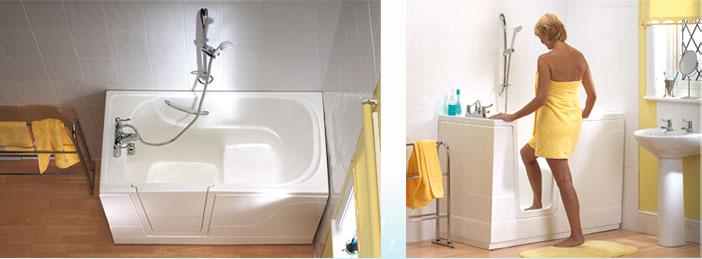 Mod les de baignoire porte la maison fran aise du bain for Baignoire a porte laterale